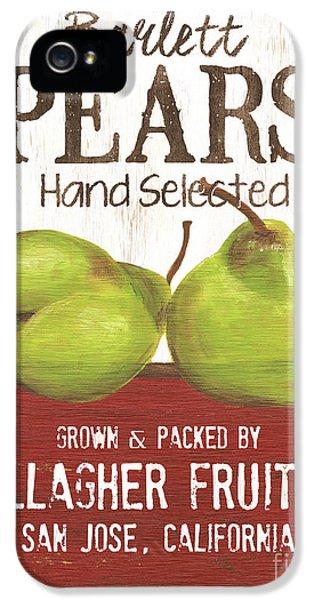 Pear iPhone 5 Case - Market Fruit 1 by Debbie DeWitt