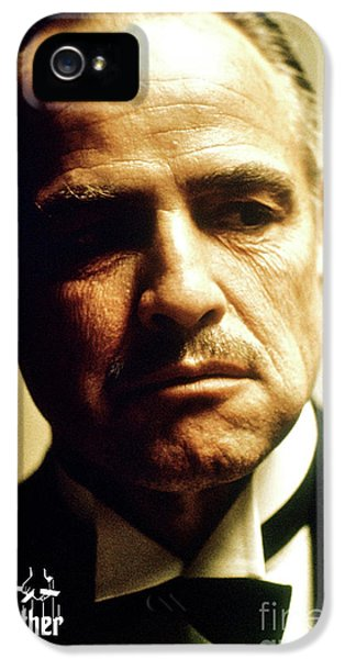 Marlon Brando, Don Vito Corleone, The Godfather IPhone 5 Case by Thomas Pollart