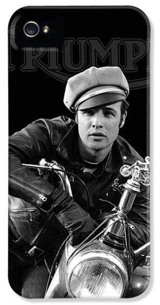 Marlon Brando Triumph IPhone 5 Case by Mark Rogan