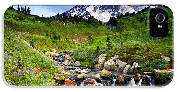 Martha Creek Wildflowers IPhone 5 Case by Mike  Dawson