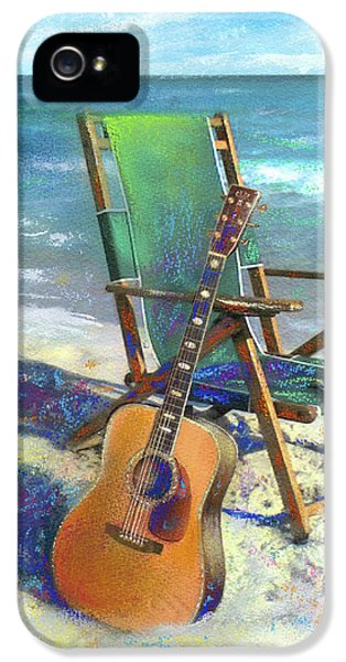 Guitar iPhone 5 Case - Martin Goes To The Beach by Andrew King
