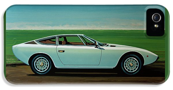 Maserati Khamsin 1974 Painting IPhone 5 Case by Paul Meijering