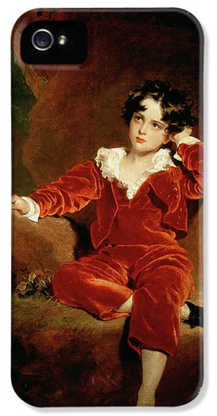 Master Charles William Lambton IPhone 5 Case by Sir Thomas Lawrence