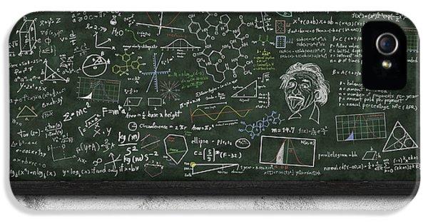 Maths Formula On Chalkboard IPhone 5 Case by Setsiri Silapasuwanchai