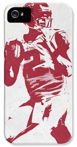 Matt Ryan Atlanta Falcons Pixel Art 2 IPhone 5 Case by Joe Hamilton