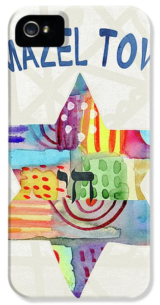 Mazel Tov Colorful Star- Art By Linda Woods IPhone 5 Case