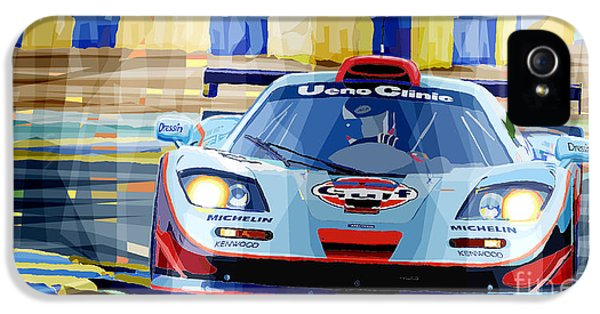Mclaren Bmw F1 Gtr Gulf Team Davidoff Le Mans 1997 IPhone 5 Case by Yuriy  Shevchuk