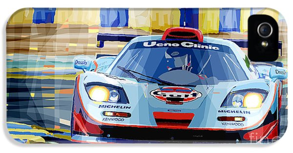 Car iPhone 5 Case - Mclaren Bmw F1 Gtr Gulf Team Davidoff Le Mans 1997 by Yuriy Shevchuk
