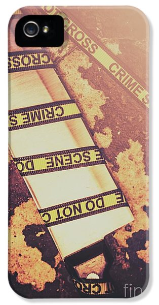 Meat Cleaver At Crime Spot IPhone 5 / 5s Case by Jorgo Photography - Wall Art Gallery