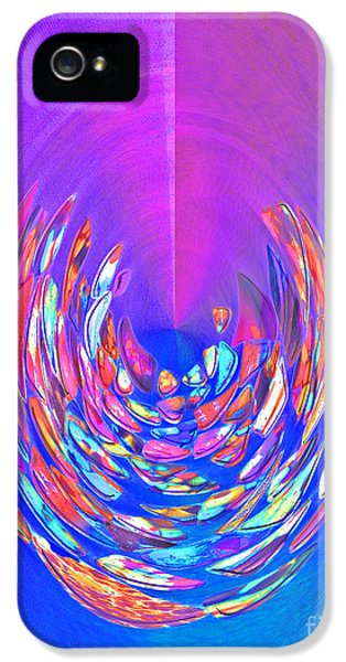 IPhone 5 Case featuring the photograph Meditation In Blue by Nareeta Martin