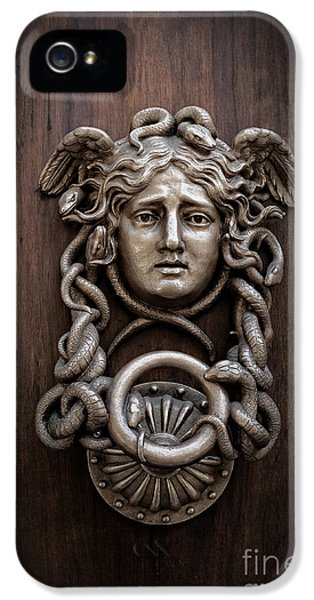 Medusa Head Door Knocker IPhone 5 Case by Edward Fielding