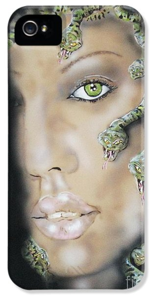 Medusa IPhone 5 Case by John Sodja