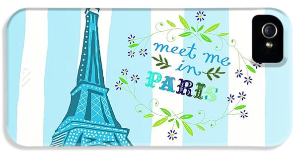 Meet Me In Paris IPhone 5 Case by Priscilla Wolfe