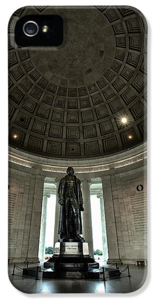 Memorial To Thomas Jefferson IPhone 5 Case by Andrew Soundarajan