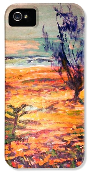 IPhone 5 Case featuring the painting Memory Pandanus by Winsome Gunning