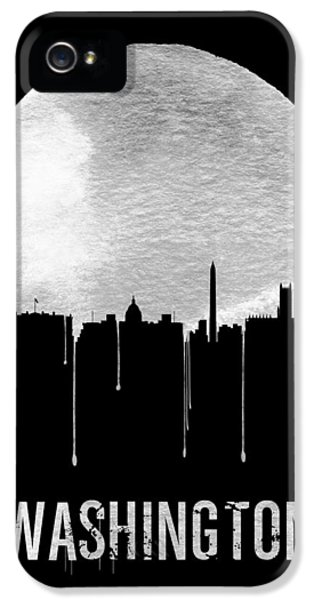 Washington D.c iPhone 5 Case - Memphis Skyline Black by Naxart Studio