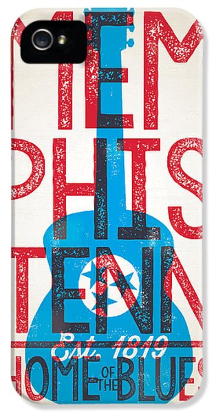 Memphis Tennessee - Home Of The Blues IPhone 5 Case by Jim Zahniser