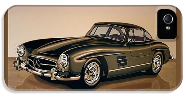 Mercedes Benz 300 Sl 1954 Painting IPhone 5 Case by Paul Meijering