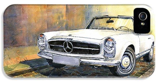 Car iPhone 5 Case - Mercedes Benz W113 280 Sl Pagoda Front by Yuriy Shevchuk