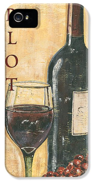 Merlot Wine And Grapes IPhone 5 Case by Debbie DeWitt