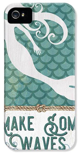 Fairy iPhone 5 Case - Mermaid Waves 1 by Debbie DeWitt