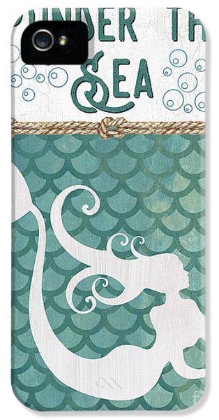 Fairy iPhone 5 Case - Mermaid Waves 2 by Debbie DeWitt