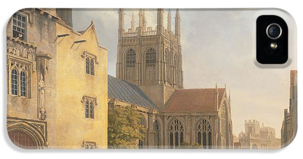 Town iPhone 5 Case - Merton College - Oxford by Michael Rooker