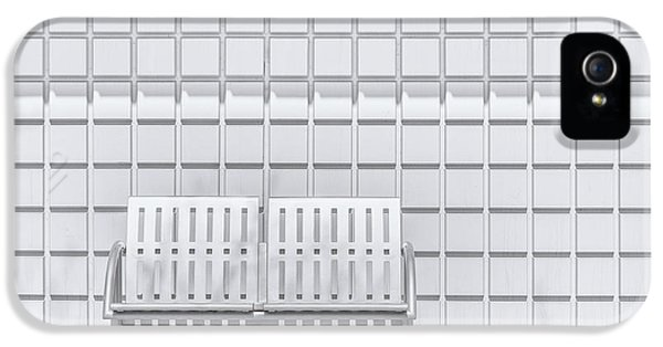 Repeat iPhone 5 Case - Metal Bench Against Concrete Squares by Scott Norris