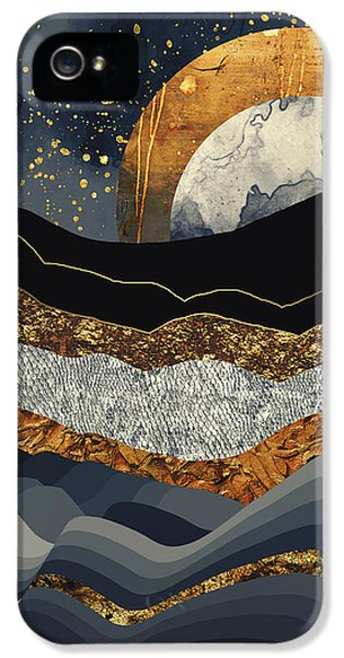 Landscapes iPhone 5 Case - Metallic Mountains by Katherine Smit