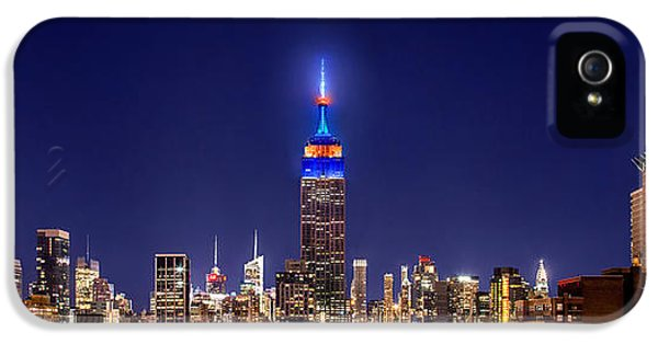 Empire State Building iPhone 5 Case - Mets Dominance by Az Jackson