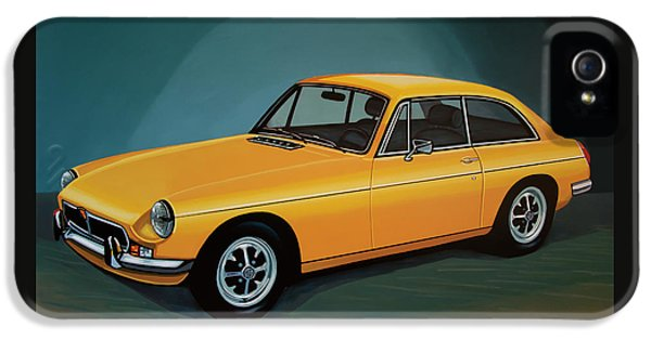 Mgb Gt 1966 Painting  IPhone 5 Case by Paul Meijering