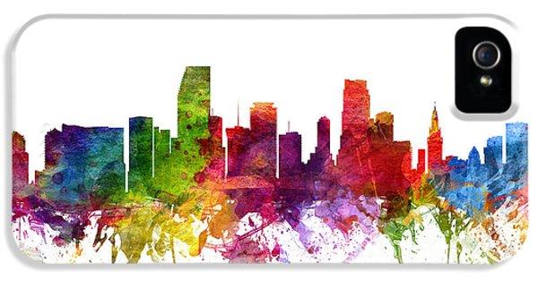 Miami Skyline iPhone 5 Case - Miami Cityscape 06 by Aged Pixel