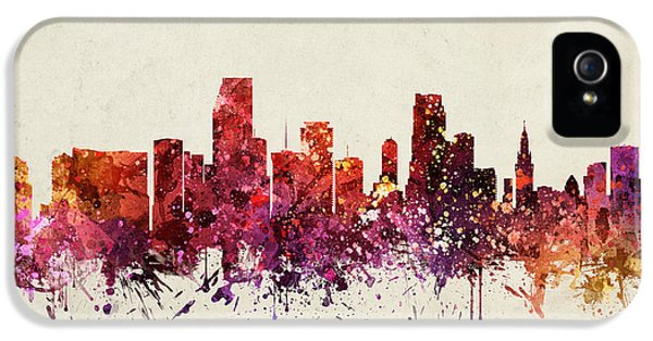 Miami Cityscape 09 IPhone 5 Case by Aged Pixel