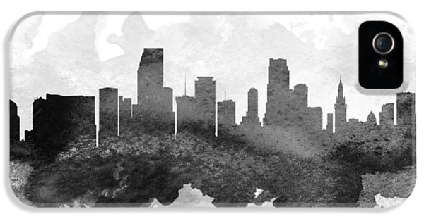 Miami Skyline iPhone 5 Case - Miami Cityscape 11 by Aged Pixel