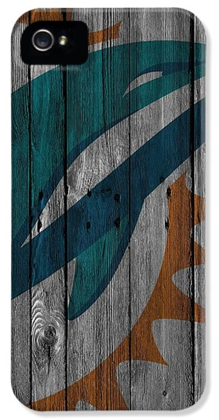 Miami Dolphins Wood Fence IPhone 5 / 5s Case by Joe Hamilton