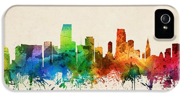 Miami Skyline iPhone 5 Case - Miami Florida Skyline 05 by Aged Pixel