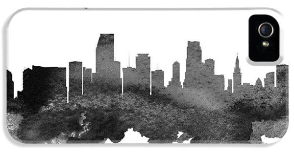 Miami Skyline iPhone 5 Case - Miami Florida Skyline 18 by Aged Pixel