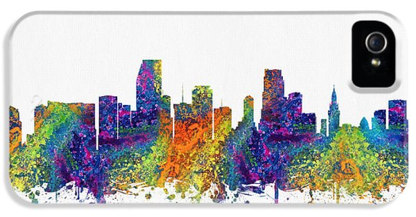 Miami Florida Skyline Color03 IPhone 5 / 5s Case by Aged Pixel