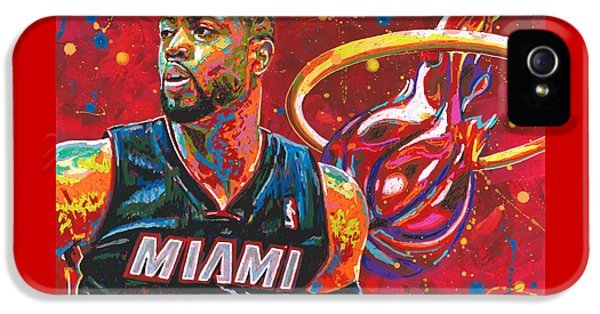 Miami Heat Legend IPhone 5 Case by Maria Arango