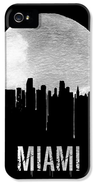 Miami Skyline iPhone 5 Case - Miami Skyline Black by Naxart Studio