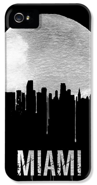 Miami Skyline Black IPhone 5 Case by Naxart Studio