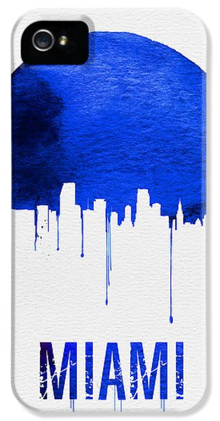 Miami Skyline Blue IPhone 5 Case by Naxart Studio