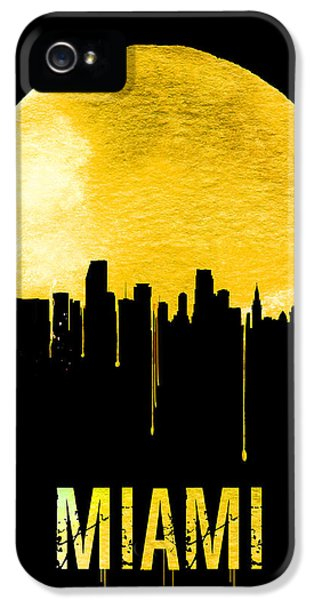 Miami Skyline Yellow IPhone 5 Case by Naxart Studio