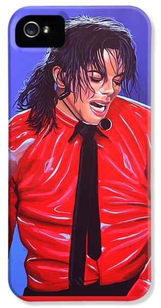 Michael Jackson 2 IPhone 5 Case by Paul Meijering