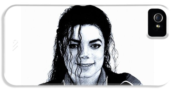 Michael Jackson Pencil Drawing  IPhone 5 Case