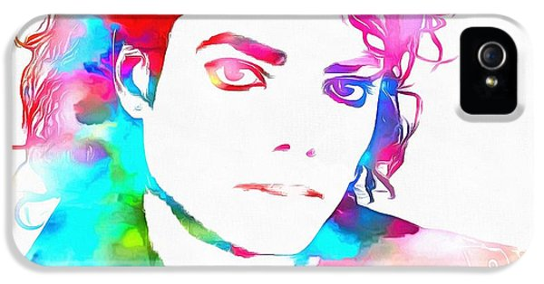 Michael Jackson Watercolor IPhone 5 Case by Dan Sproul