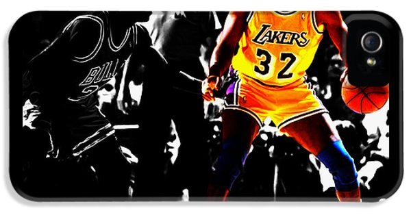 Michael Jordan And Magic Johnson IPhone 5 Case