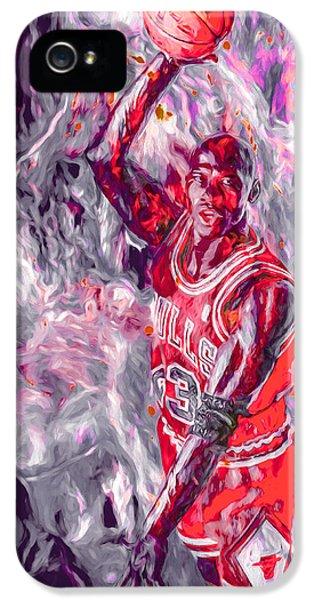 Michael Jordan Chicago Bulls Digital Painting IPhone 5 Case