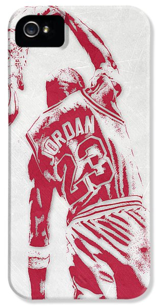 Michael Jordan Chicago Bulls Pixel Art 1 IPhone 5 Case