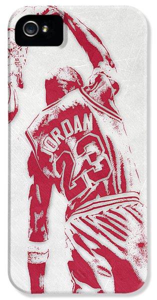 Michael Jordan Chicago Bulls Pixel Art 1 IPhone 5 Case by Joe Hamilton